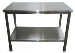table-inox-centrale-etagere